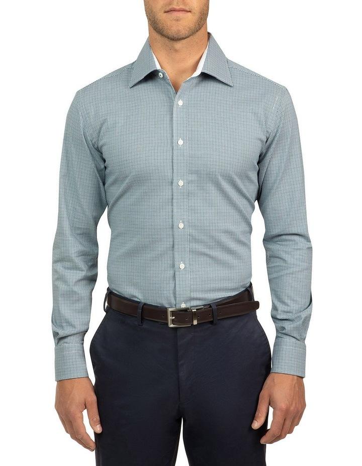 Modern Fit Blue Carlton Shirt image 1