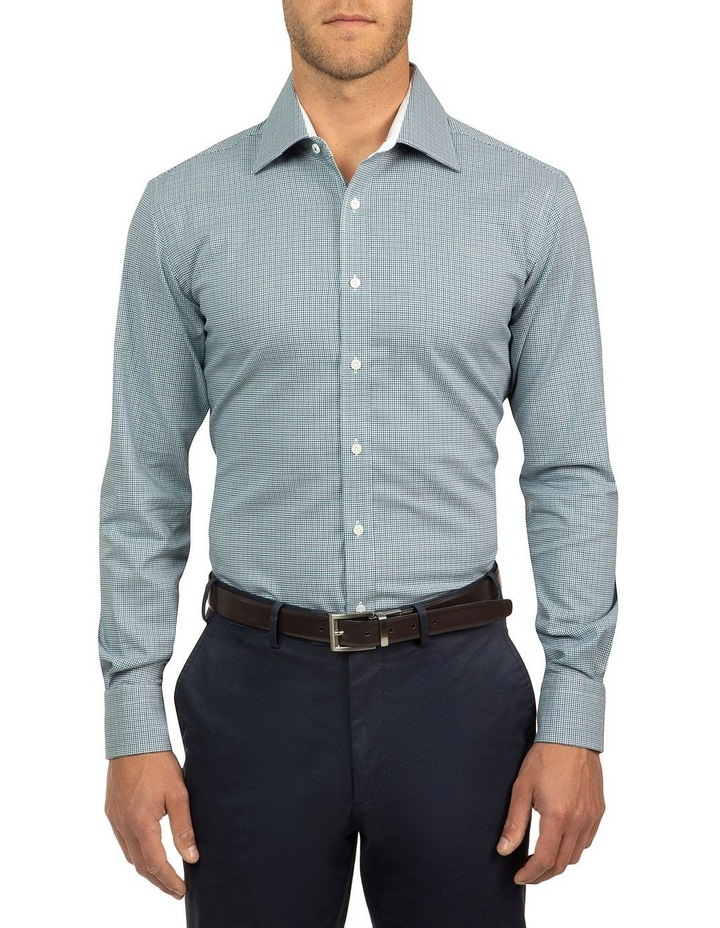 Modern Fit Teal Carlton Shirt image 1