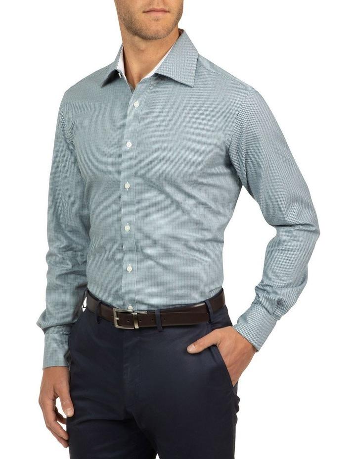 Modern Fit Teal Carlton Shirt image 2