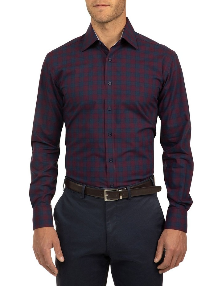 Red Modern Fit Carlton Shirt image 1