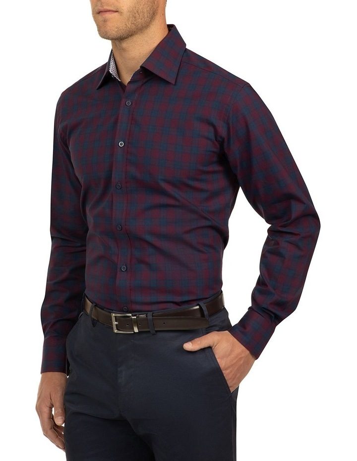 Red Modern Fit Carlton Shirt image 2
