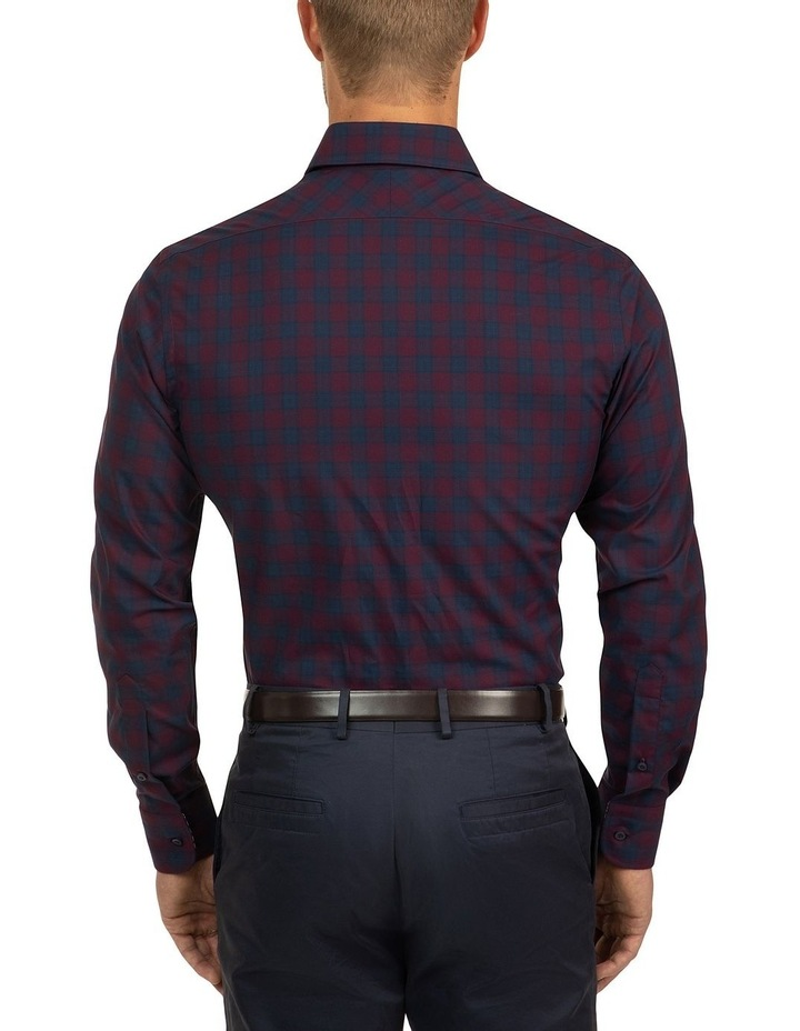 Red Modern Fit Carlton Shirt image 3