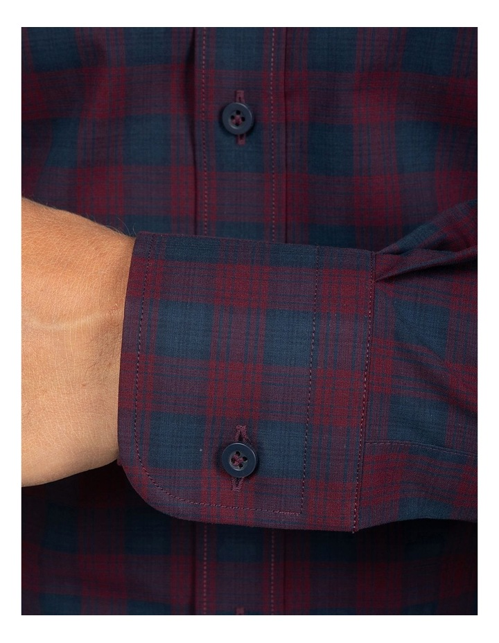 Red Modern Fit Carlton Shirt image 4