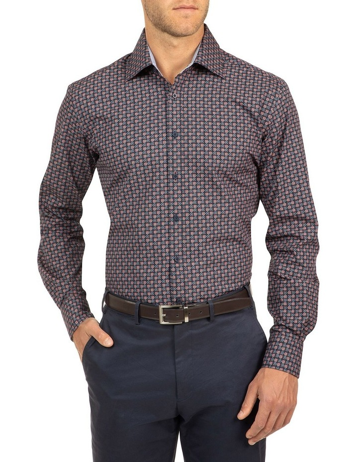 Modern Fit Red Carlton Shirt image 1