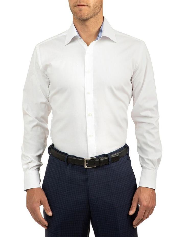 White Modern Fit Carlton Shirt image 1