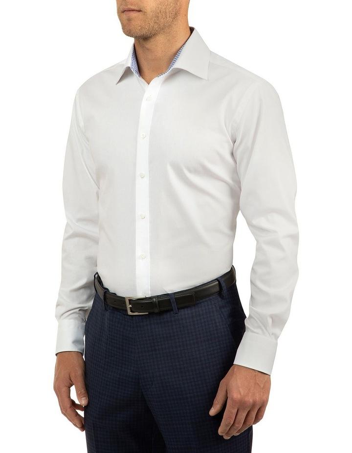 White Modern Fit Carlton Shirt image 2