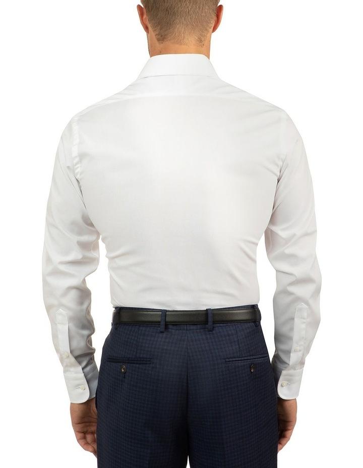 White Modern Fit Carlton Shirt image 3