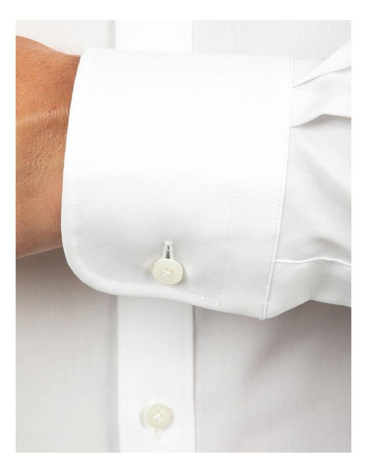 White Modern Fit Carlton Shirt image 4