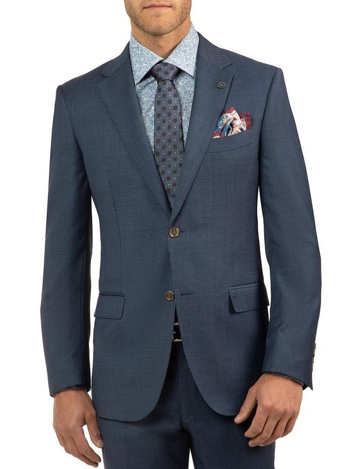 Modern Fit Morse Blue Houndstooth Suit Jacket FCJ336 image 1
