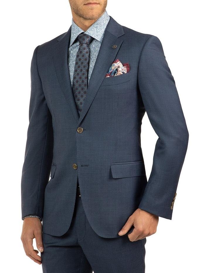Modern Fit Morse Blue Houndstooth Suit Jacket FCJ336 image 2