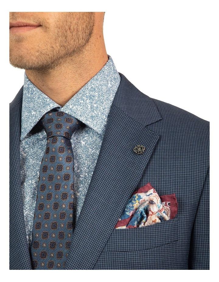 Modern Fit Morse Blue Houndstooth Suit Jacket FCJ336 image 4