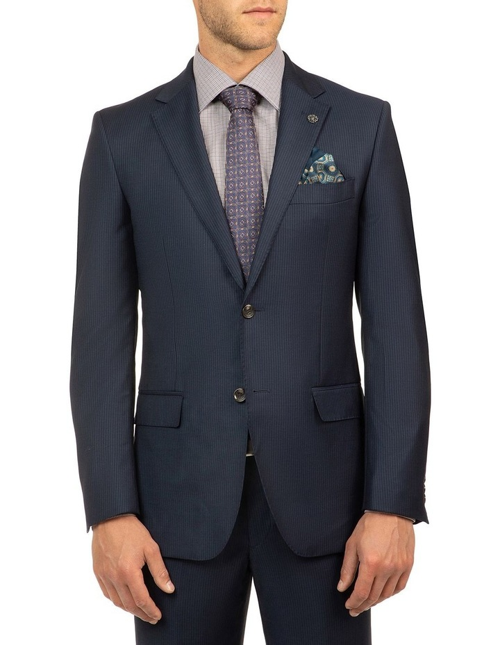 Navy Stripe FCJ353 Suit Jacket image 1