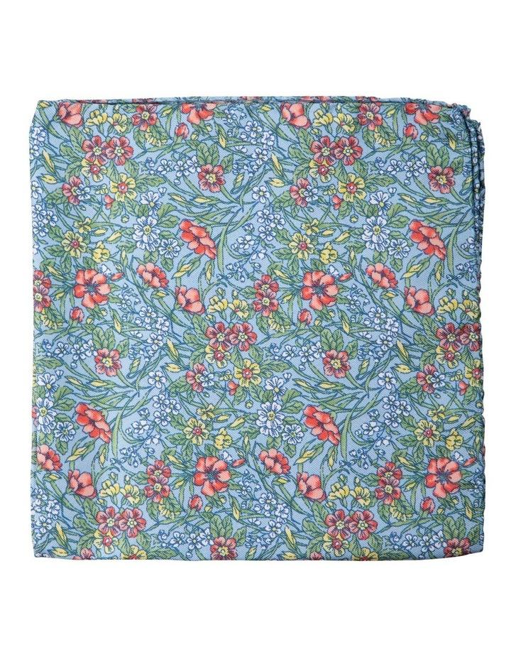 Wildflowers Silk Pocket Square-Blue image 1