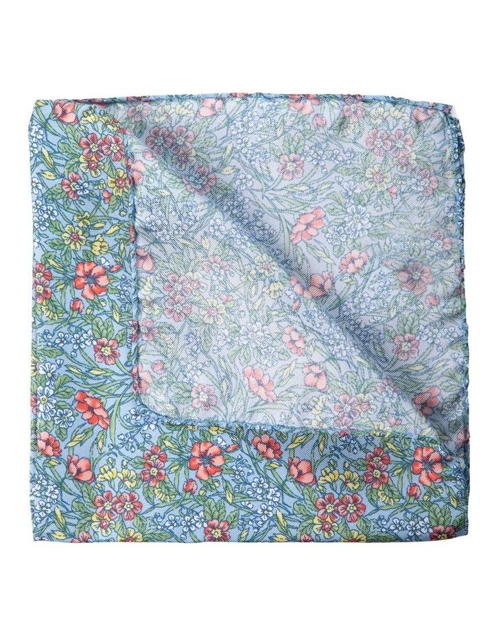 Wildflowers Silk Pocket Square-Blue image 2