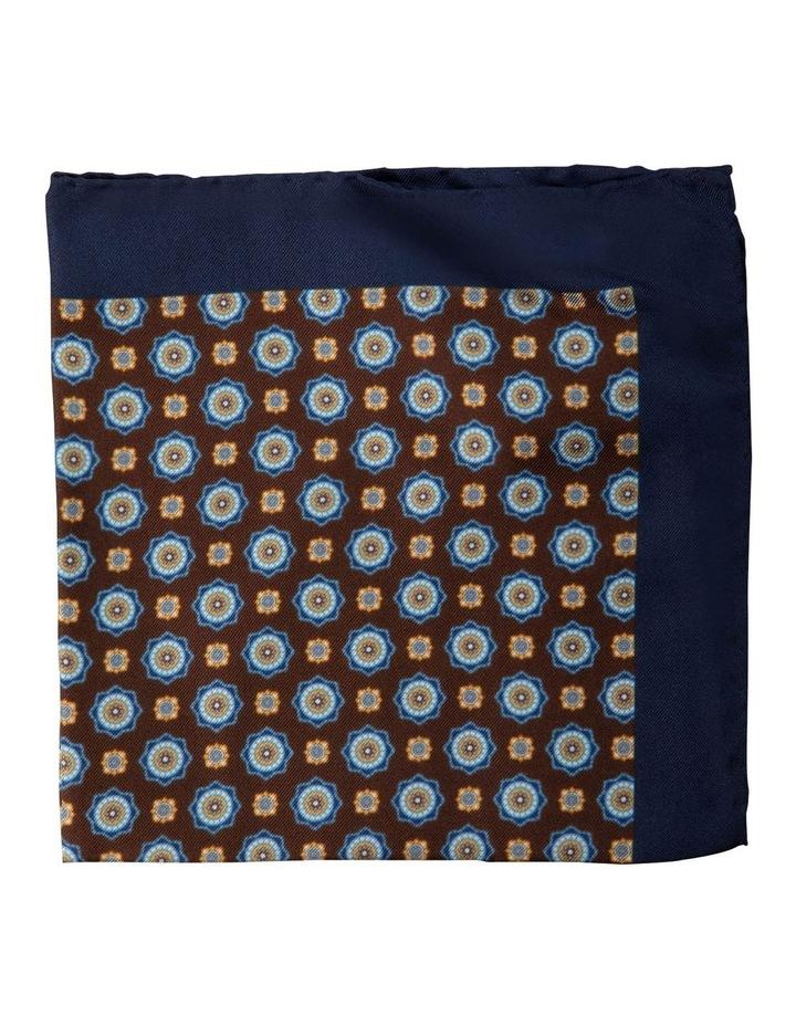 Foulard Silk Pocket Square-Coffee image 1