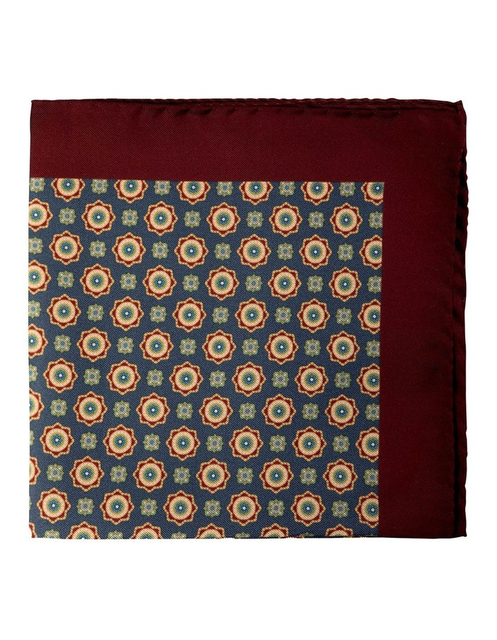 Foulard Silk Pocket Square-Dark Grey image 1