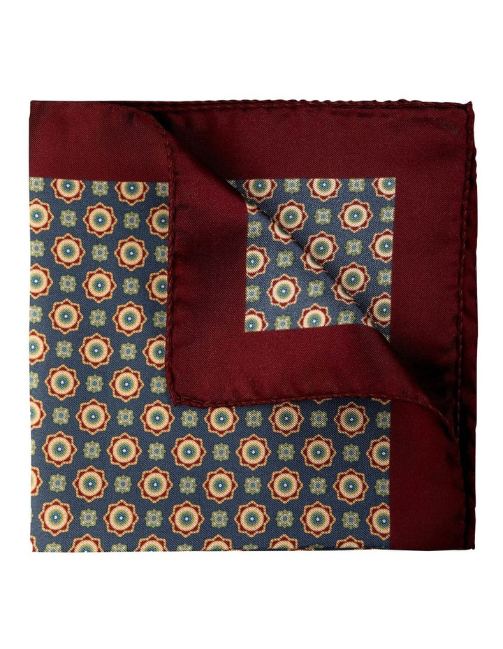 Foulard Silk Pocket Square-Dark Grey image 2