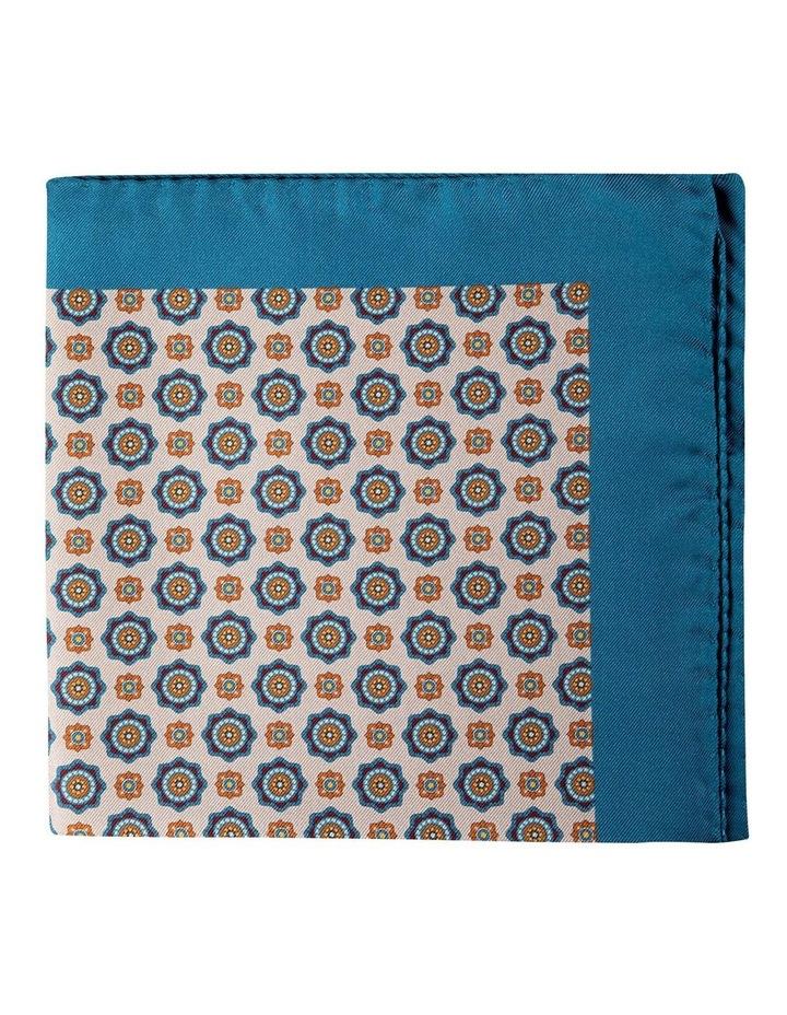 Foulard Silk Pocket Square-Stone image 1
