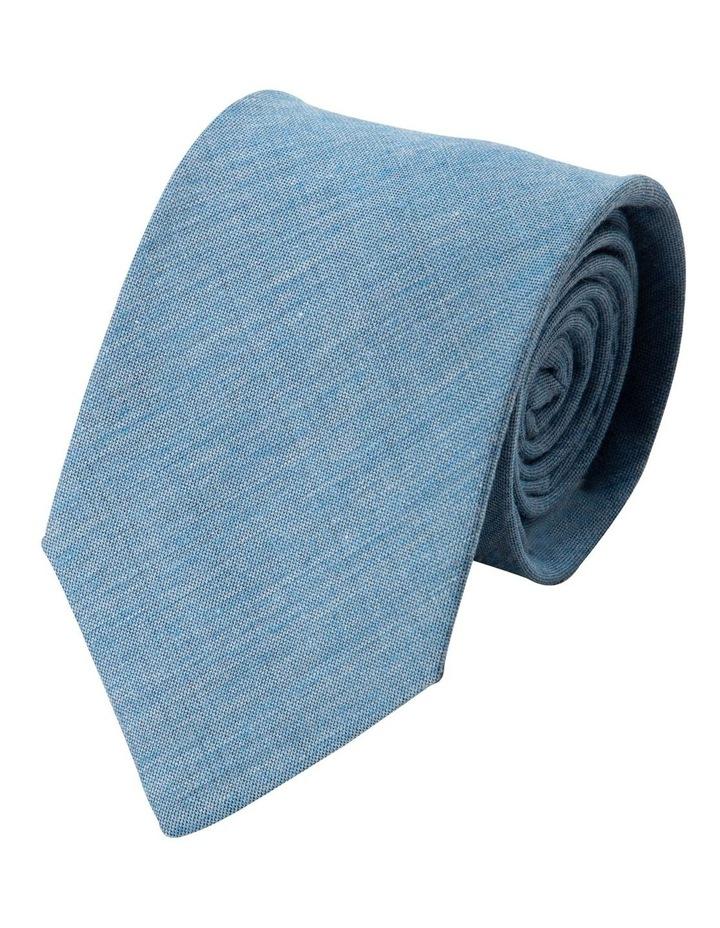 Melange Silk/Cotton Tie-Sky image 1