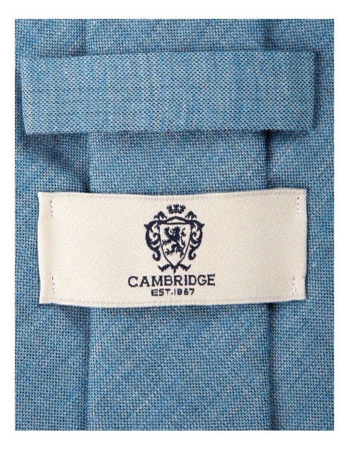 Melange Silk/Cotton Tie-Sky image 2