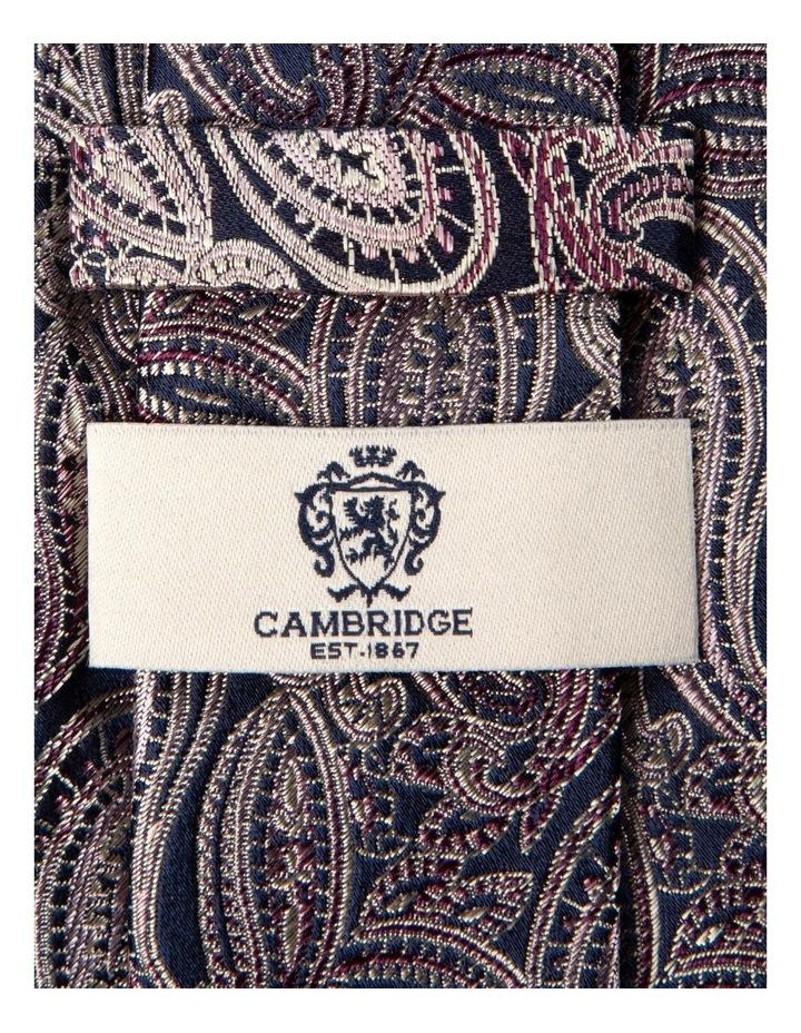 Graphite Paisley Silk Tie-Pink image 2