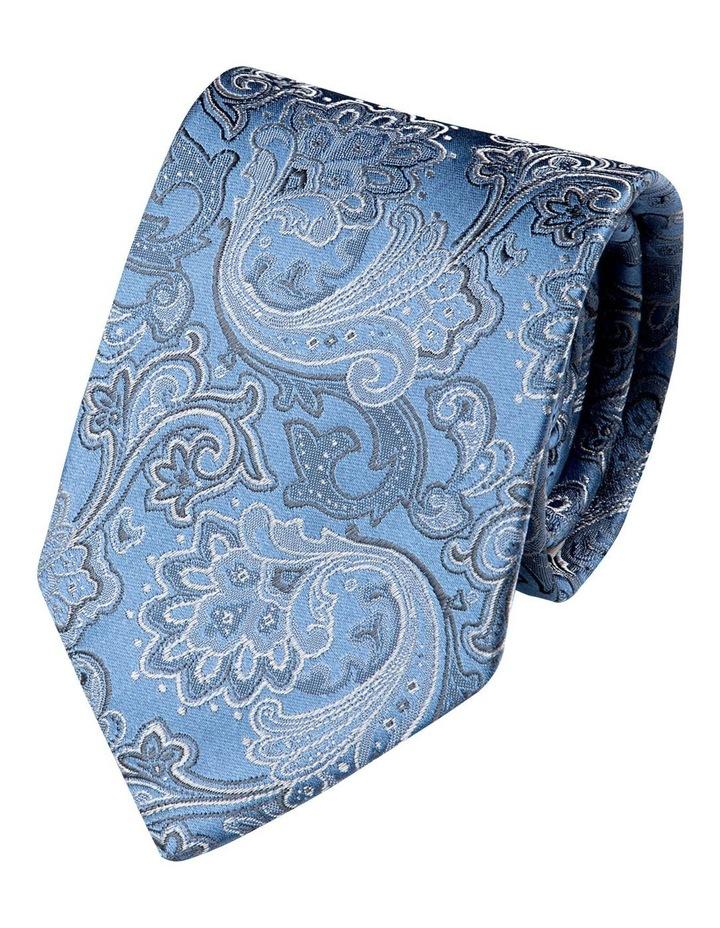 Antique Paisley Silk Tie-Blue image 1
