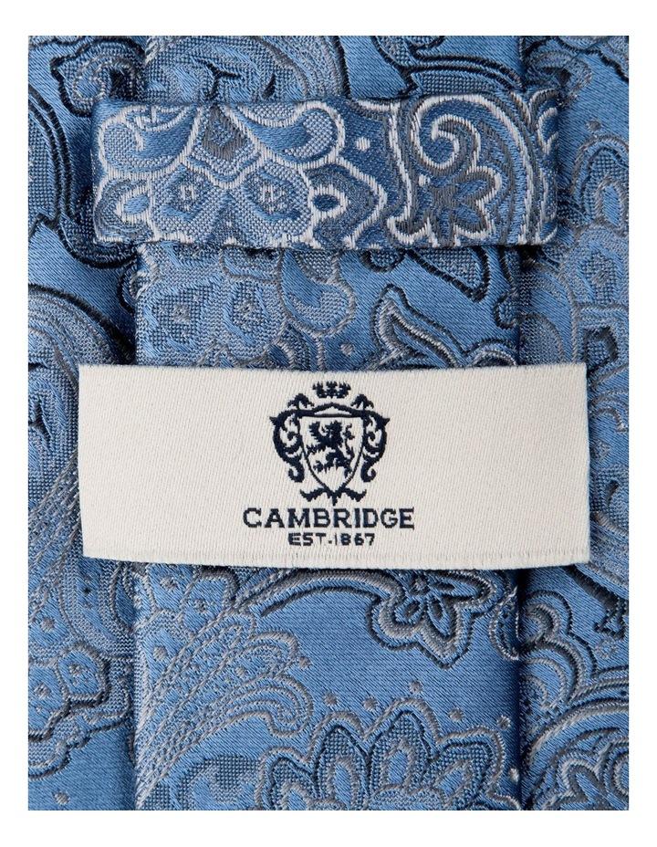 Antique Paisley Silk Tie-Blue image 2