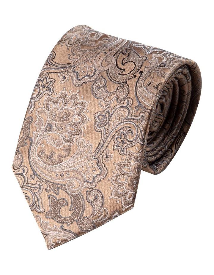 Antique Paisley Silk Tie-Gold image 1