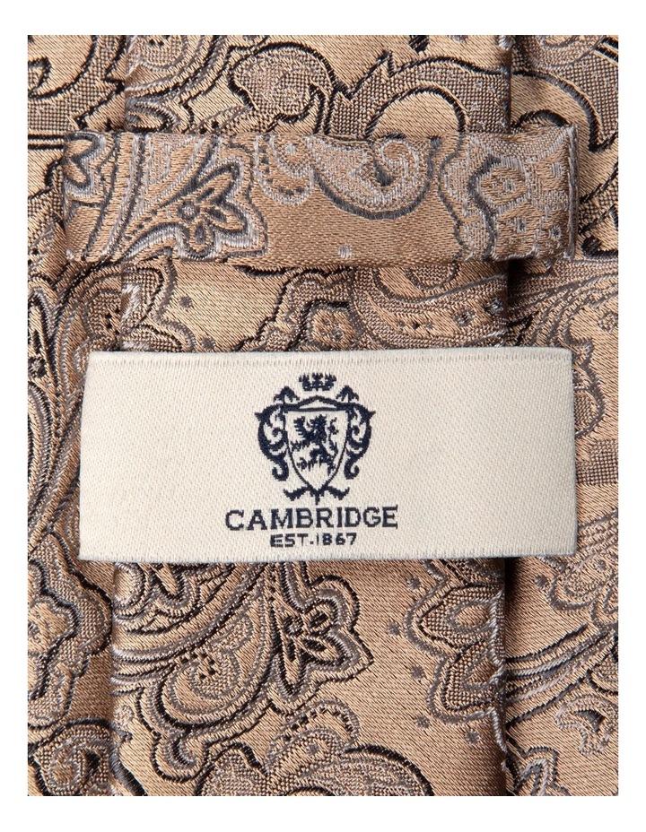 Antique Paisley Silk Tie-Gold image 2