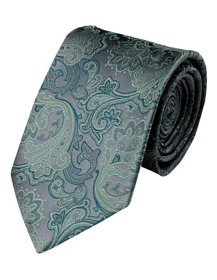 Antique Paisley Silk Tie-Jade image 1