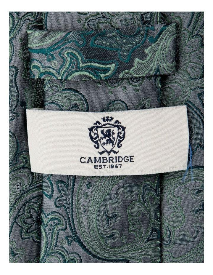 Antique Paisley Silk Tie-Jade image 2
