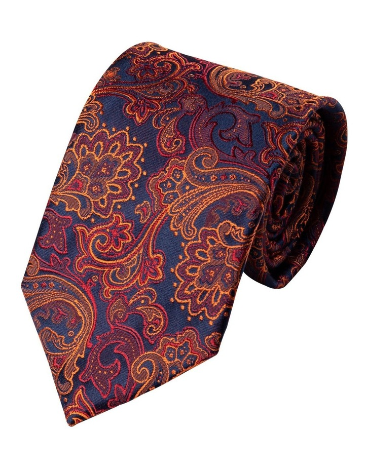 Antique Paisley Silk Tie-Orange image 1