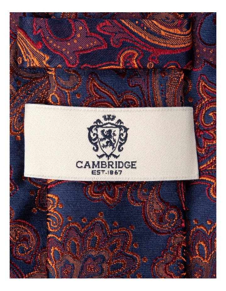 Antique Paisley Silk Tie-Orange image 2