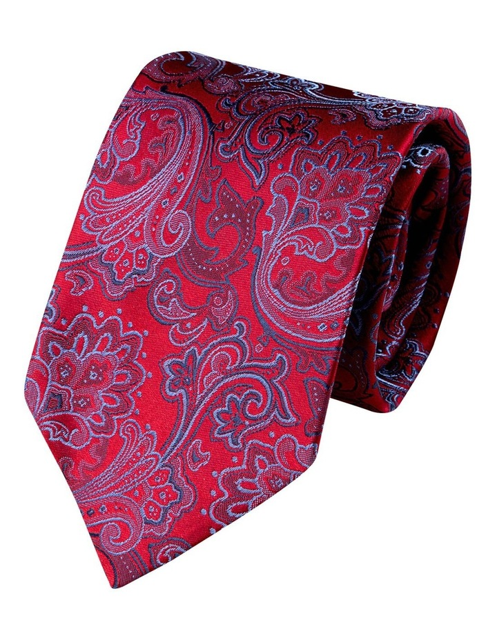 Antique Paisley Silk Tie-Red image 1