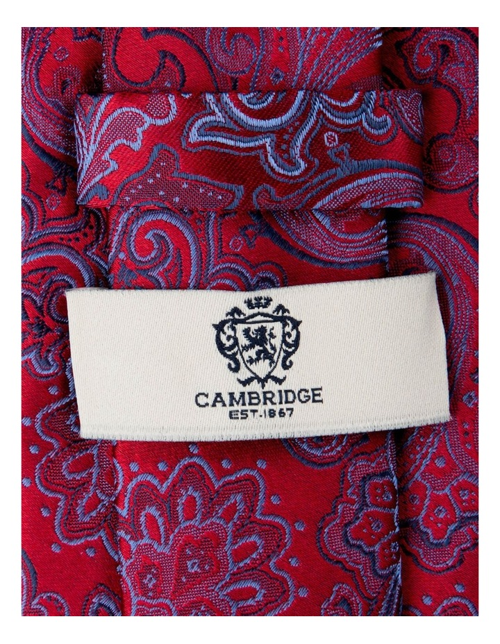 Antique Paisley Silk Tie-Red image 2