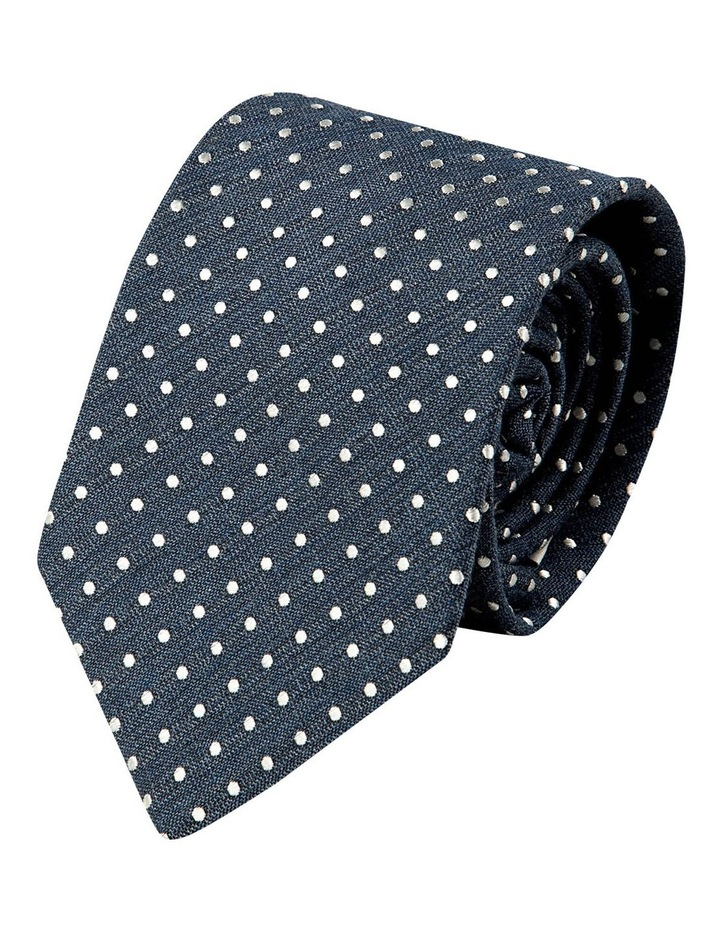 Melange Polkadot Silk/Cotton Tie-Denim image 1