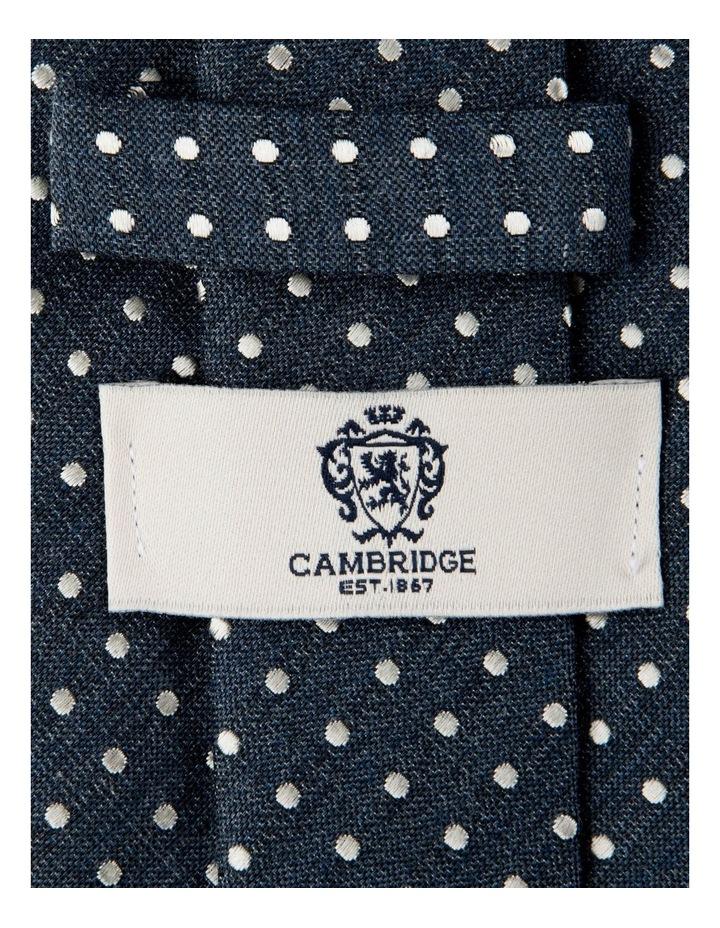 Melange Polkadot Silk/Cotton Tie-Denim image 2