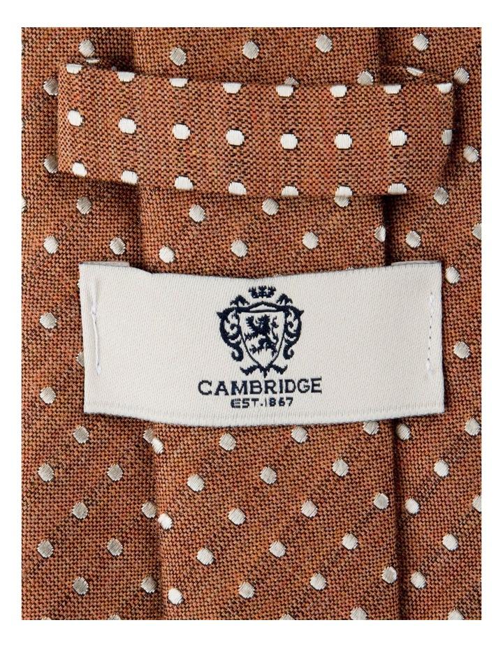 Melange Polkadot Silk/Cotton Tie-Rust image 2