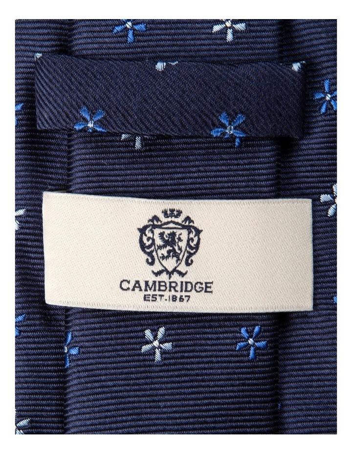 Neat Foulard Silk Tie-Blue image 2