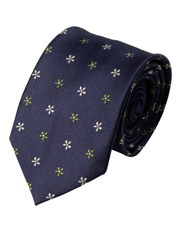 Neat Foulard Silk Tie-Green image 1