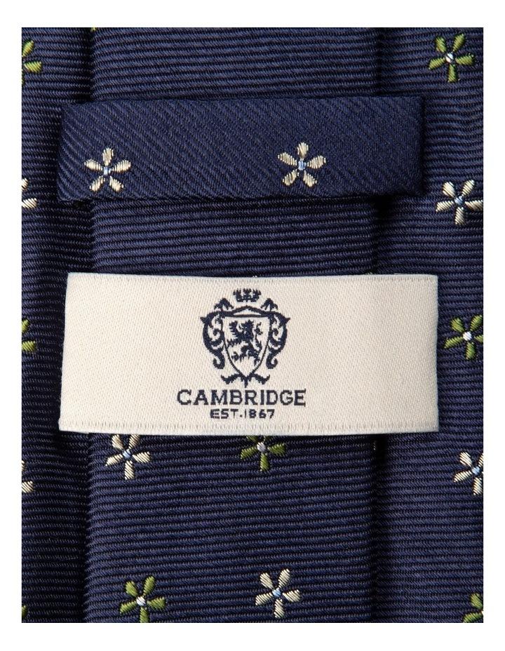 Neat Foulard Silk Tie-Green image 2