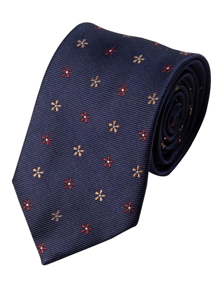 Neat Foulard Silk Tie-Red image 1