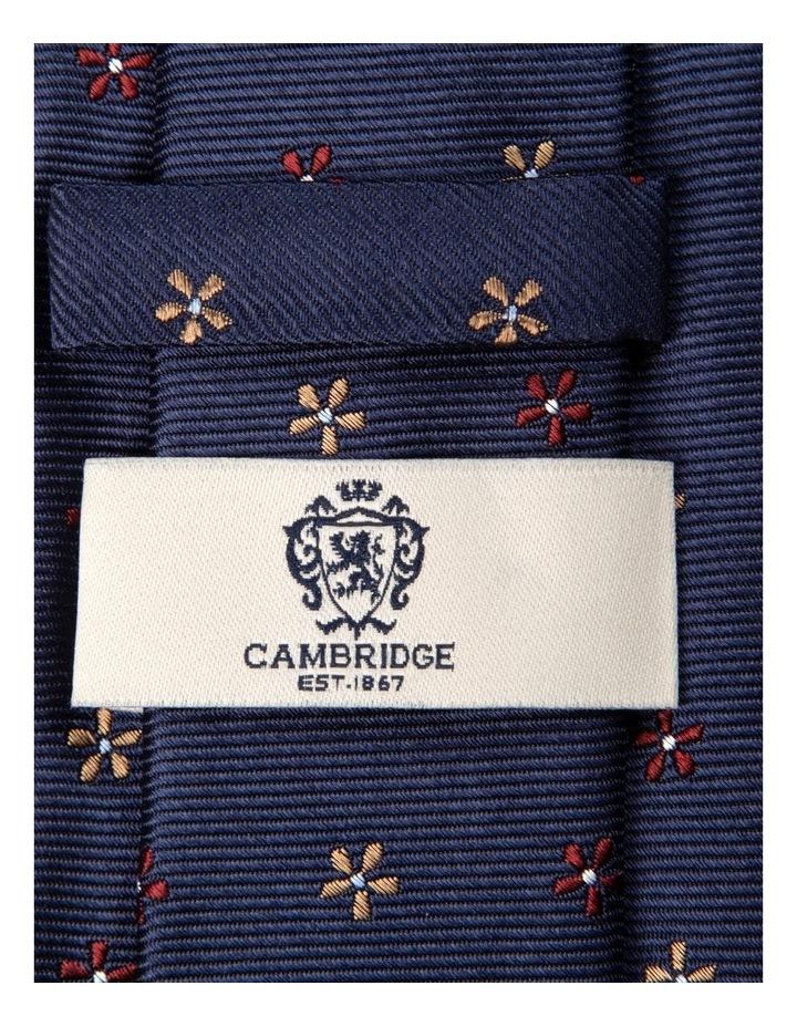 Neat Foulard Silk Tie-Red image 2