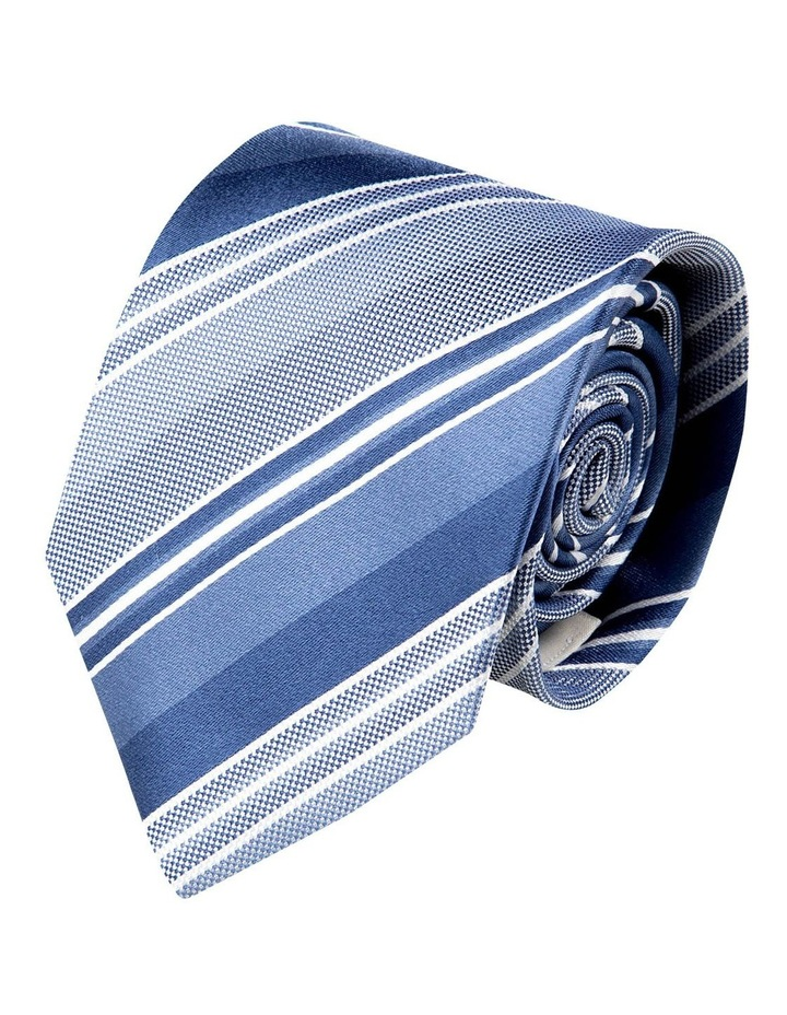 Multi Stripe Silk Tie-Blue image 1