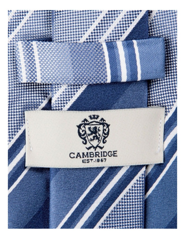 Multi Stripe Silk Tie-Blue image 2