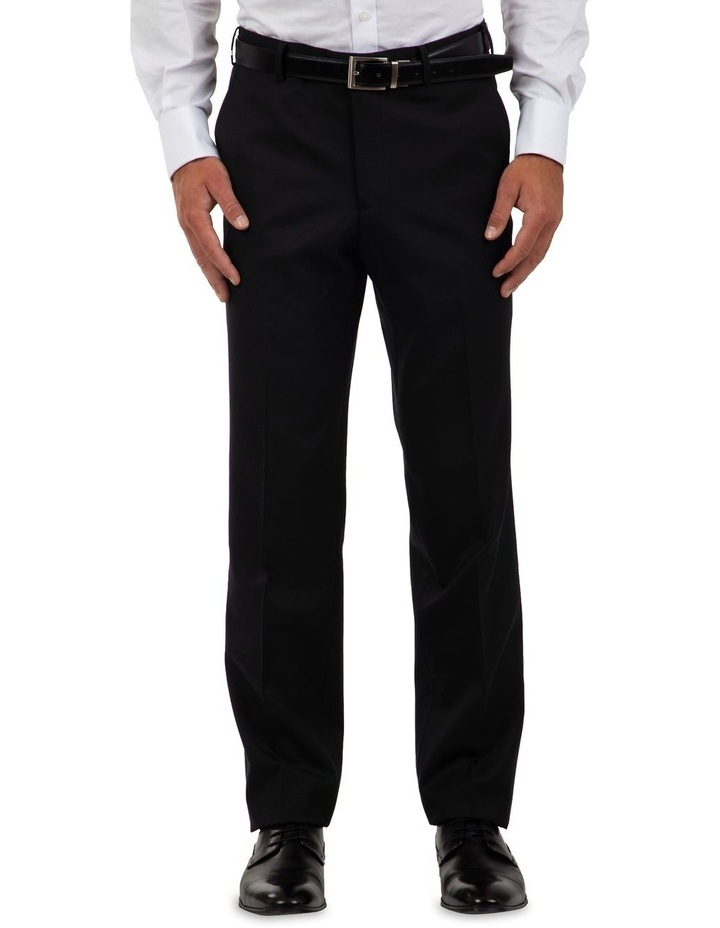 Modern Fit Interceptor Black Suit Trouser FMG100 image 1