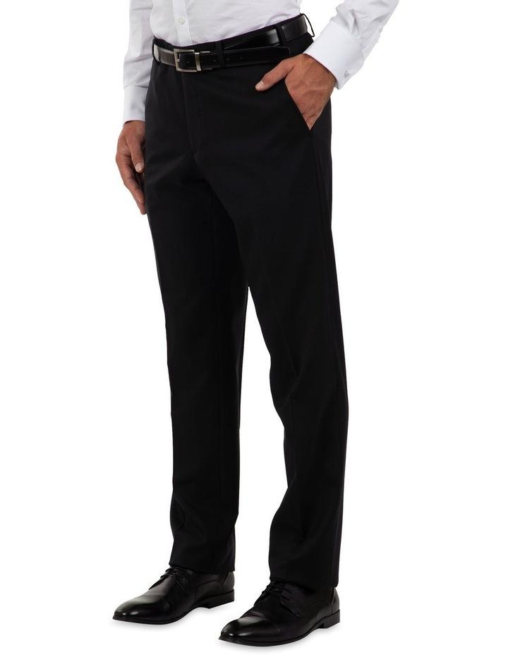 Modern Fit Interceptor Black Suit Trouser FMG100 image 3
