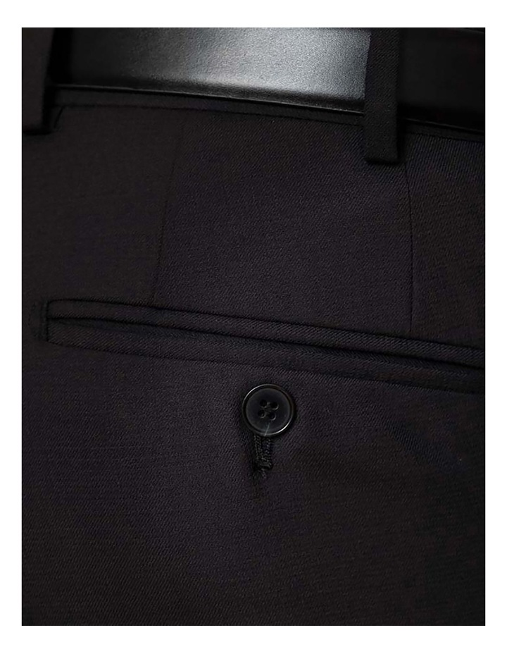 Modern Fit Interceptor Black Suit Trouser FMG100 image 4
