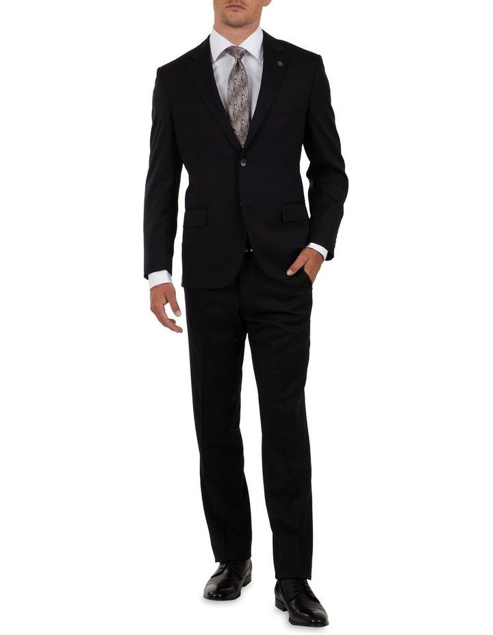 Modern Fit Interceptor Black Suit Trouser FMG100 image 5