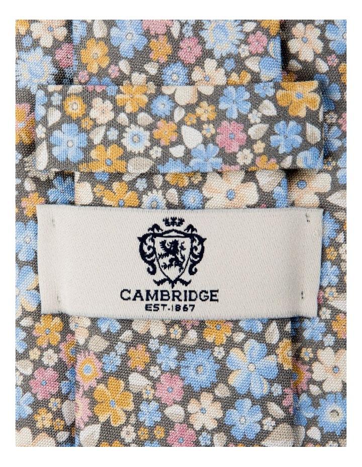 Micro Flora Silk Tie-Grey image 2